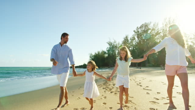 Happy Family on the Beach video