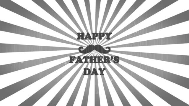 vídeos de stock, filmes e b-roll de animação do dia dos pais felizes 4k - fathers day