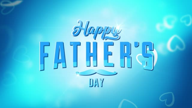 happy father's day animation - fathers day stock videos and b-roll footage