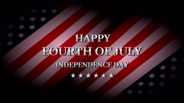happy fourth of july. independence day. 4k animation - giorno dell'indipendenza video stock e b–roll