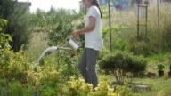 istock Happy girl in garden 1267121526