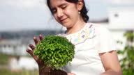 istock Happy girl in garden 1280854747