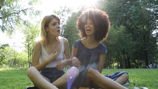 Happy girls spending a day off together video