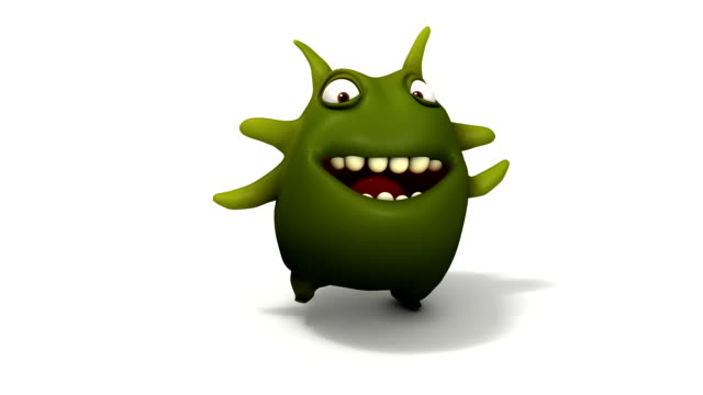 happy green virus run video