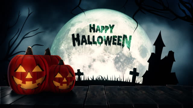 Happy Halloween Text- und Hintergrundfarben – Video