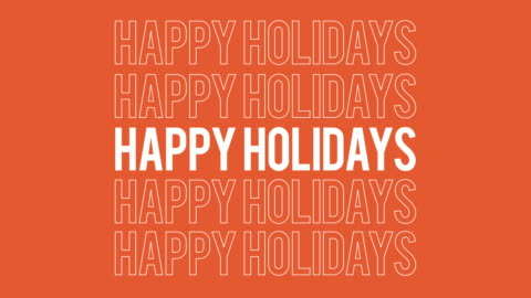 Happy Holidays all inclusive typography social media greeting. Happy Holidays all inclusive typography social media greeting. 4k great for corporate cards. happy holidays stock videos & royalty-free footage