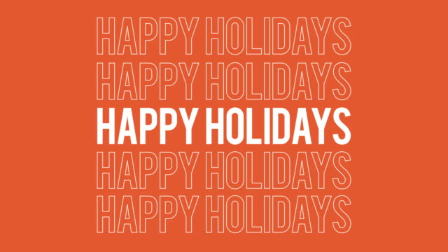 happy holidays all inclusive typography social media greeting. - happy holidays stock videos & royalty-free footage