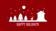 istock 4K Happy Holidays Animation |Loopable 1308487083