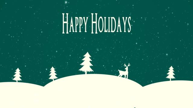 4k happy holidays animation - happy holidays stock videos & royalty-free footage