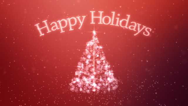 happy holidays background - happy holidays stock videos & royalty-free footage