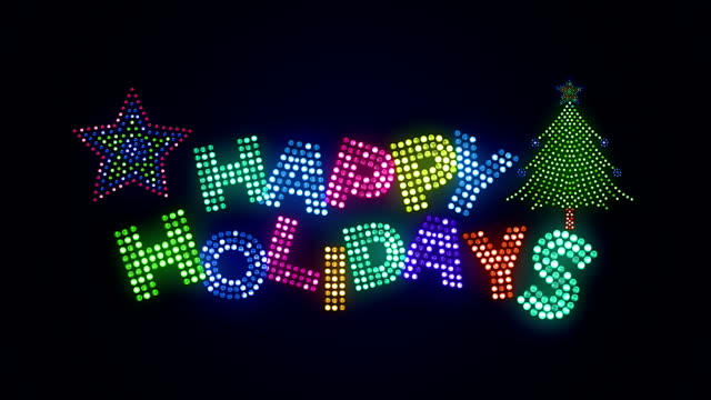 happy holidays greetings - happy holidays stock videos & royalty-free footage