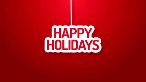 Happy holidays hanging on a wire Happy holidays hanging on a wire happy holidays stock videos & royalty-free footage