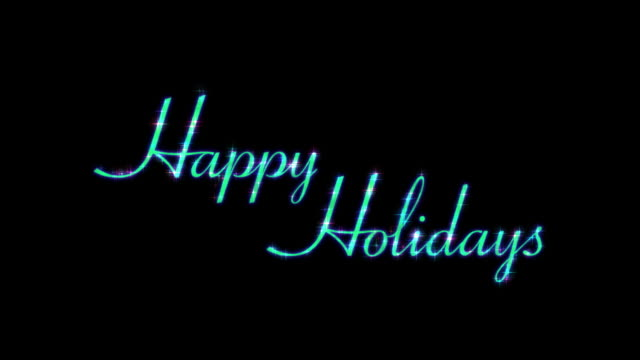 Happy Holidays HD Text Element with Alpha Channel video