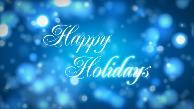 Happy Holidays on Blue video