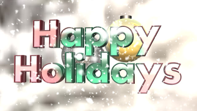 Happy Holidays - seamless looping title video