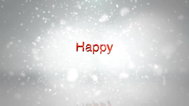 happy holidays snow - happy holidays stock videos & royalty-free footage