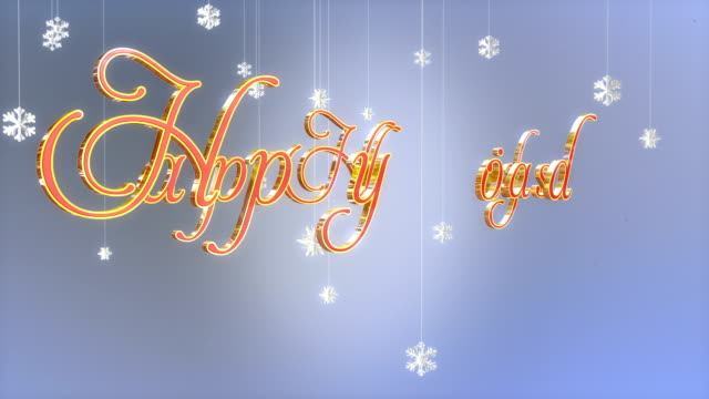 happy holidays title with floating paper flakes, luma matte - happy holidays stock videos & royalty-free footage