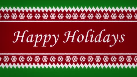 Happy Holidays Knitted sweater animation of Happy Holidays. happy holidays stock videos & royalty-free footage