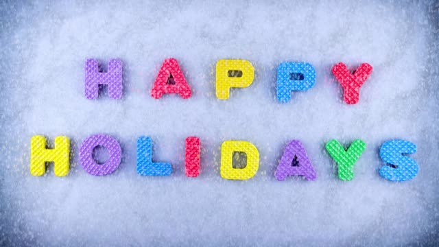 happy holidays - happy holidays stock videos & royalty-free footage