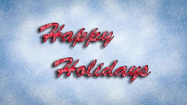 vídeos y material grabado en eventos de stock de felices fiestas  - happy holidays