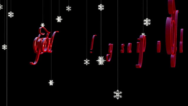 happy holidays with floating paper flakes, against black - happy holidays stock videos & royalty-free footage