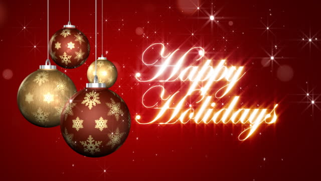 happy holidays with ornament-loopable - happy holidays stock videos & royalty-free footage