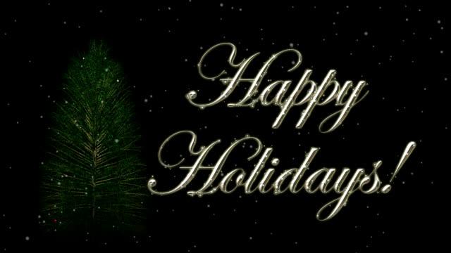 vídeos y material grabado en eventos de stock de felices fiestas fondo hd1080 con árbol - happy holidays
