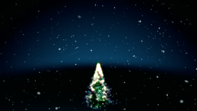 happy holidays with tree blue - happy holidays stock videos & royalty-free footage