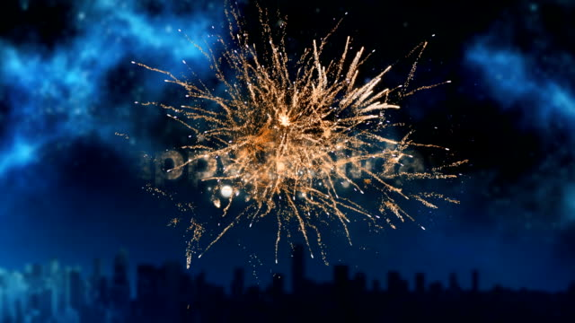 happy holidays written over fireworks - happy holidays stock videos & royalty-free footage