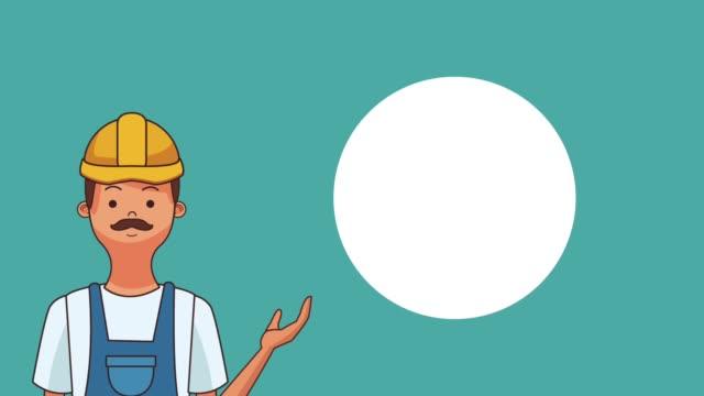 Glückliche Tag der Arbeit HD-animation – Video