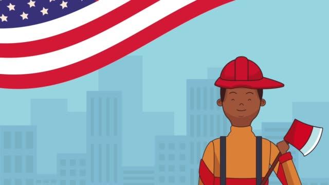 Happy labor day HD animation video