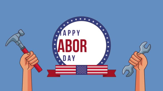 Happy labor day HD animation video