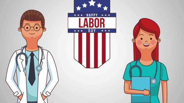 happy labor day hd animation - labor day stock videos and b-roll footage