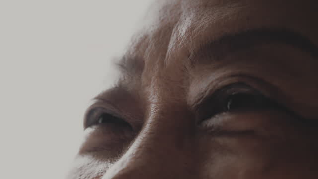 Happy Life Beautiful , Human Eye , Wrinkled , One Senior Woman hope concept stock videos & royalty-free footage