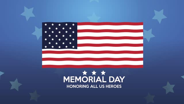 счастливый день памяти надписи с сша флагом - memorial day стоковые видео и кадры b-roll