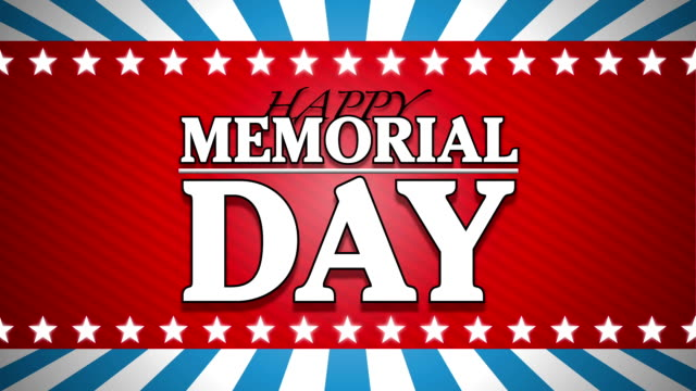 happy memorial day title animation hd video - memorial day stock videos & royalty-free footage