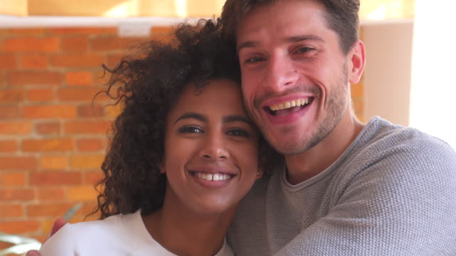 Happy mixed race couple video