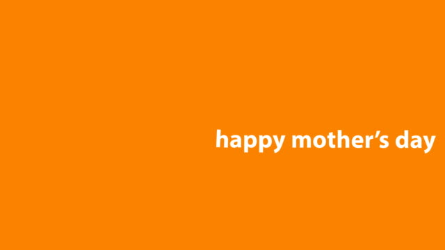 4K Happy Mother's Day Animation - Orange Background Animation of Mother's Day. HD 3840x2160 mothers day stock videos & royalty-free footage