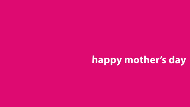 4K Happy Mother's Day Animation - Pink Background Animation of Mother's Day. HD 3840x2160 mothers day stock videos & royalty-free footage