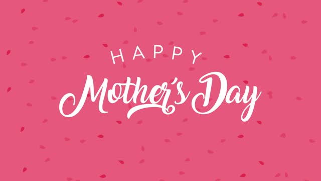 happy mothers day lettering in pink background happy mothers day lettering in pink background ,FullHD video animated mothers day stock videos & royalty-free footage