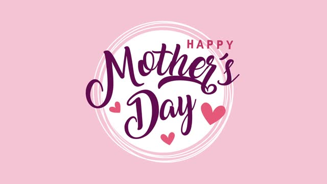 happy mothers day lettering with hearts love happy mothers day lettering with hearts love ,FullHD video animated mothers day stock videos & royalty-free footage