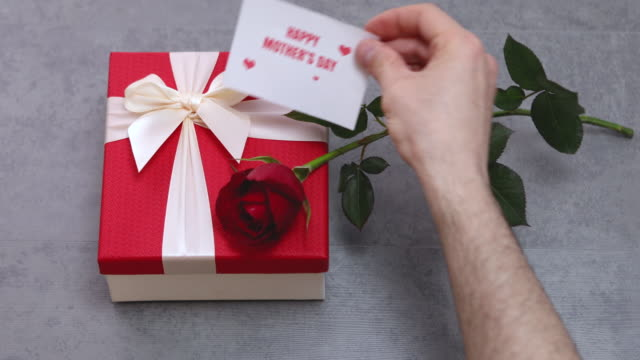 Happy Mother's Day Message With Gift Boxes