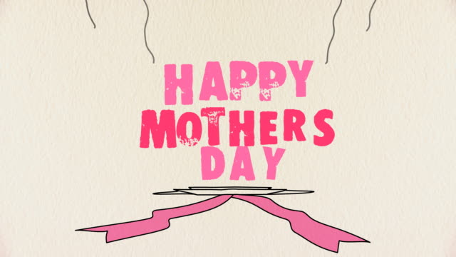Happy Mothers Day Animated Mothers Day greeting mothers day stock videos & royalty-free footage