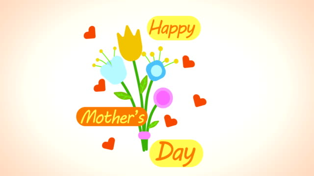 happy mother's day happy mother's day logo animation mothers day stock videos & royalty-free footage