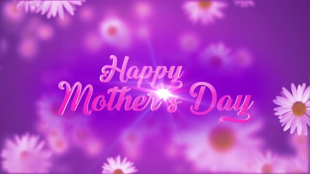 Happy Mother's Day Happy Mother's Day Title with flower background mothers day stock videos & royalty-free footage