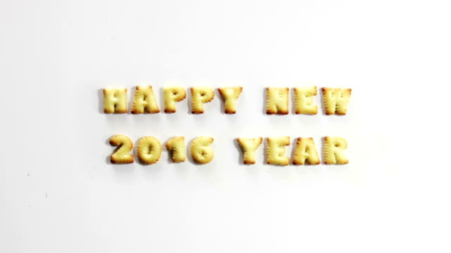 happy new 2016 year crackers stop motion animation video