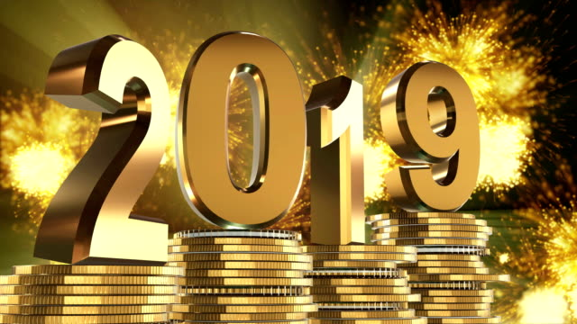 Happy new year 2019 Happy new year 2019 petard stock videos & royalty-free footage