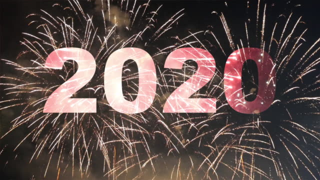 Happy new year 2020 firework Happy new year 2020 firework 2020 stock videos & royalty-free footage