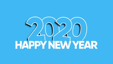 Happy New Year 2020 Happy New Year 2020 Greeting Card Animation happy new year stock videos & royalty-free footage