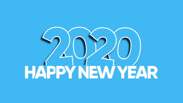 frohes neues jahr 2020 - silvester stock-videos und b-roll-filmmaterial